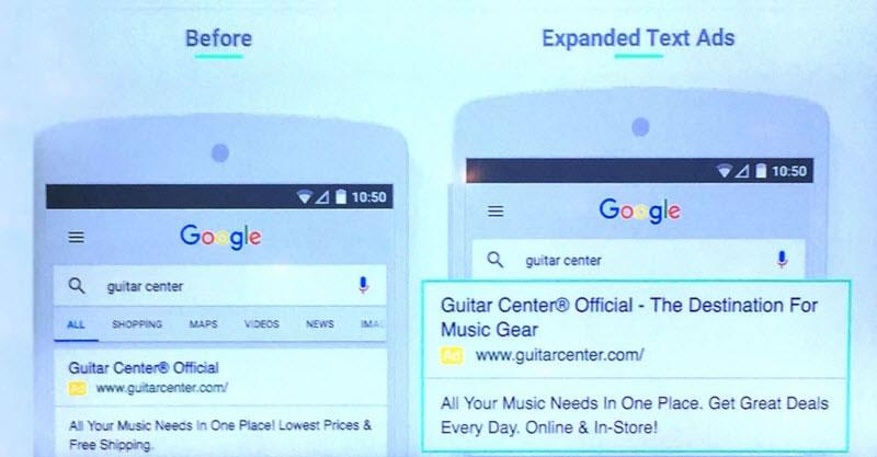 Google Texto Expandido Exemplo