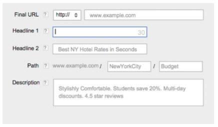 Google Texto Expandido Interface